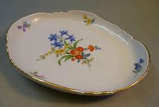 Original Meissen Porzellan Schale Platte Tablett Blumen Reliefrand