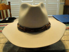 Renegade Western Cowboy Hat XX Fur Blend Size 7 3/8 with Braided Leather Band