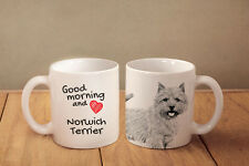Norwich//Norfolk Terrier /'Love You Dad/' Mug+Coaster Christmas//Birthday DAD-80MC