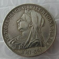 1900 Victoria Florin/Two Shillings Veiled and Draped Bust/Three Shileds