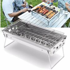 Foldable BBQ Charcoal Grill Barbecue Camping Picnic Stainless Steel Garden AU