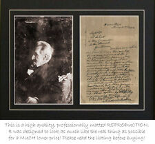 Andrew Jackson Signed Letter and Photograph (autograph) Professionally Matted