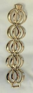 Vintage Gold-Tone Bergere Large Double Chain Link Bracelet