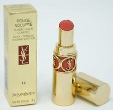 YSL Rouge Volupté Perle Silky Radiant Lipstick 14 Orange Frisson