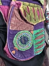 Cotton Utility Razor Cut Pocket Hip Belt Pixie Hippie Bum Bag PsyTrance Festival