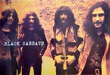 "BLACK SABBATH ""GROUP BY BRICK WALL"" POSTER FROM ASIA -Ozzy, Geezer, Tony & Bill"