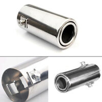 Stainless Steel Auto Rear Round Exhaust Pipe Tail Throat Muffler Tip Car Parts
