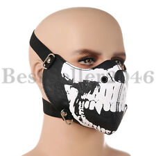 Half Skull Face Skeleton Protection Mask Biker Outdoor Riding Fancy Party Dress