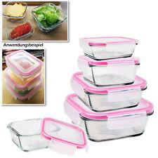 Frischhaltedosen Set Glas Klick Deckel Vorratsdosen Brotdose Aufbewahrungsdose