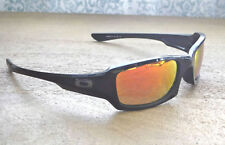 "NWOT Oakley Polarized Fives Squared Sunglasses Black / Ruby Irid w Gunmetal ""O"""