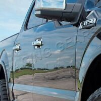 FIT 2015-2019 FORD F150/F-150 MIRROR CHROME DOOR HANDLE BOWL COVER CAPS TRIM