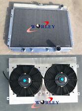 3 core aluminum radiator & shroud & fans for Ford Mustang V8 1967 1968 1969 1970
