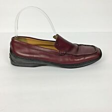 Tods Red Loafers Slip Ons Size 7.5 7 1/2 Cherry Leather Womens Driving Euro 38