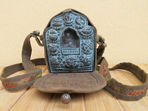 Tibet Ghau tragbarer Schrein - Buddha Vajrasattva Gau - Glückssymbole - Nepal