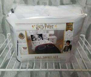 Harry Potter Jay Franco Full Sheet Pillowcases Set 4 Pc Glasses Wand