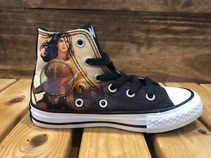 Converse Chuck Taylor All Star Hi Black DC Comics Wonder Woman Youth US 11 Shoes