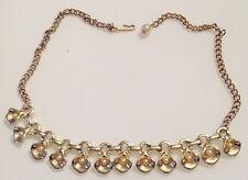 collier ras de coup ancien maillon relief arôme perle blanche couleur or 165