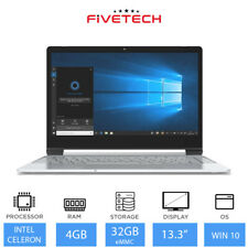 "FIVETECH 3 13.3"" Student Laptop Intel Celeron N3350 4GB RAM 32GB eMMC Windows 10"