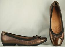 Women's Clarks Artisan Bronze Leather/Patent Leather Loafers US 8 EUR 39