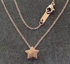 N336 Halskette Edelstahl Rosegold Anhänger Stern Damen Necklace Star Pendant IP