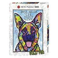 Heye Puzzles - 1000pc - Dogsnever Lie - Dogs Never 1000piece Multicolour