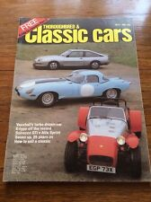 Vintage Magazine Thoroughbred & Classic Car / Film Prop Car Showroom May 1982