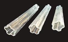 "VTG Venini 20"" Chandelier Parts Tronchi Glass Replacement Tube Prism Murano"