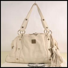 Authentic MCM Leather Shoulder Tote Bag with dust bag