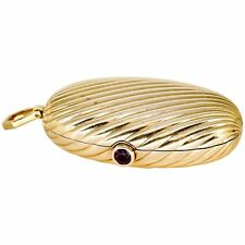 BULGARI Ruby and 18K  Yellow Gold Melon Pill Box