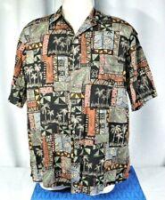 Tori Richard Cotton Lawn (Honolulu) Vintage Hawaiian Shirt, Men's Large, Palms
