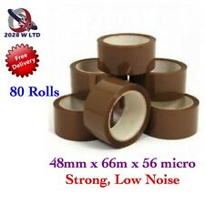 Brown Parcel Packing Tape 48mm*66m*56mic, Strong, Low Noise (80 Rolls)