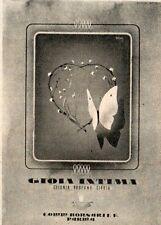 Pubblicità vintage Gioia intima Parma profumo donna old advertising reklame A1