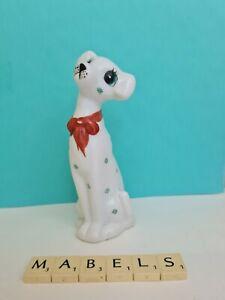 FOREIGN RETRO KITSCH ~WHITE CERAMIC~ long neck dog ornament