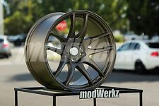 17x9.5 Inch +20 ESR Sr08 5x114.3 Bronze Wheels Rims Civic STI Evo IS300 RSX TSX
