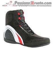 Chaussures motorrad Dainese Motorshoe air noir blanc red shoes Suzuki Triumph