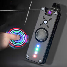 Electric Plasma Cigarette Lighter Usb Rechargeable Double Arc Windproof Spinner