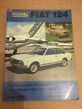 INTEREUROPE Fiat 124 especial, especial T Coupé Spider Taller Manual De 1966 en