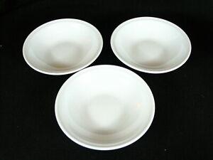 "3 APILCO Vintage Classic White Individual Pasta Bowls 6 7/8"""