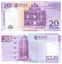 Macau 20 Patacas 2013 (2014) Bank of China P-109b Banknotes UNC