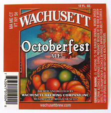 Wachusett Brewing OCTOBERFEST ALE beer label MA Var #4 Arch touches top edge