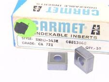 NEW SURPLUS 10PCS. CARMET  SNMG 543E  GRADE: CA721  CARBIDE INSERTS