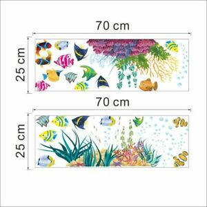 Removable Ocean Sea,Fish Wall Stickers Vinyl Art Home Kids Room Mural Decals.new
