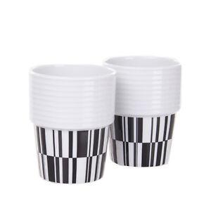 RORSTRAND DECO Porcelain Coffee / Tea Mug Set of 2 Design By Filippa K
