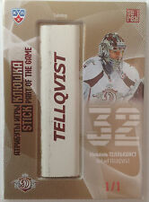 2013-14 KHL SeReal GOLD COLLECTION stick part of the game Mikael Tellqvist 1/1