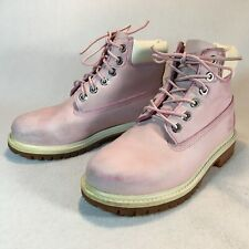 New listing Timberland Light Pink Leather Ankle Boots Youth Girls Size 13