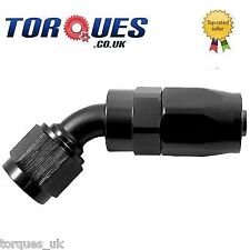AN -20 (AN20 AN 20) 45 Degree Fast Flow Hose Fitting In Stealth Black
