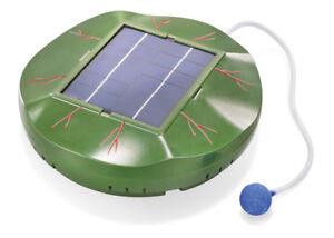 Schwimmender Solar Teichbelüfter 120l/h Gartenteich Teichbelüftung esotec 101875