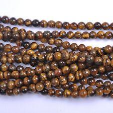 Wholesale 5Pcs Natural Tiger's Eye Gemstone Round Spacer Loose Beads 12MM #2
