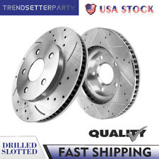 Front Drilled Slotted Brake Rotors for 2002 2003 2004 2005 2006 Nissan Altima