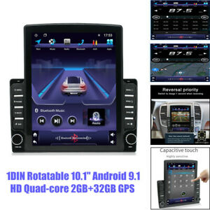 "10.1"" 1DIN Android9.1 Touch Screen Quad-core 2+32GB USB Car GPS Radio MP5 Player"
